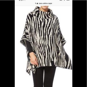 Zara zebra cape